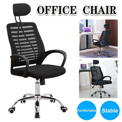 AU48.99 • Buy Adjustable Executive Office Chair Gaming Desk Computer Mesh Seat Fabric Swivel
