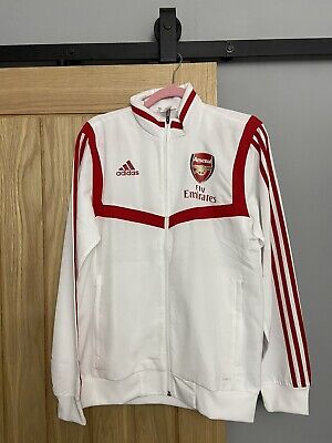 Brand New Arsenal Adidas Presentation Jacket 2019/20 Size Small - White/Red • 25£
