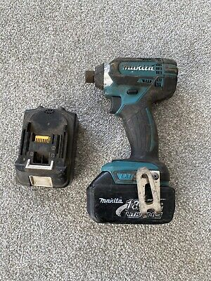 Makita Impact Driver DTD146 WITH 18V 3.0ah Battery And Spare Battery • 51£