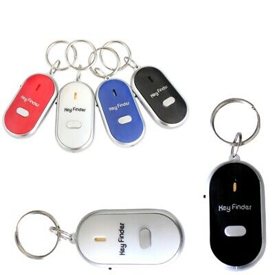 Whistle Lost Key Finder Flashing Beeping Locator Remote Chain LED Sonic Torch • 2.95£