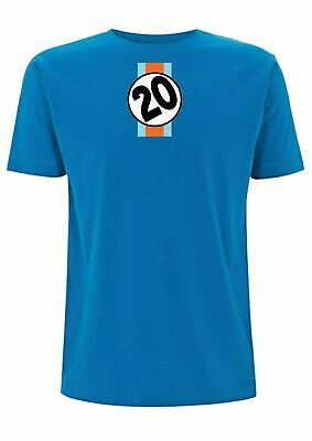 Le Mans T-Shirt Steve McQueen Gulf Number 20 917 F1 24 Racing Film 964 993 Car • 15.99£