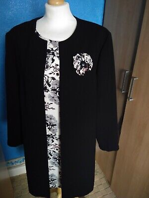 Ladies Smart Dress And Jacket Ideal For Wedding Or Races Size 14 Hardly Worn • 8.75£