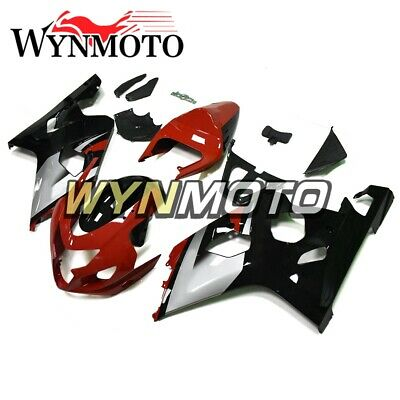 $422.71 • Buy For Suzuki GSXR600 GSXR750 K4 2004 2005 Black Silver And Red ABS Motor Fairings