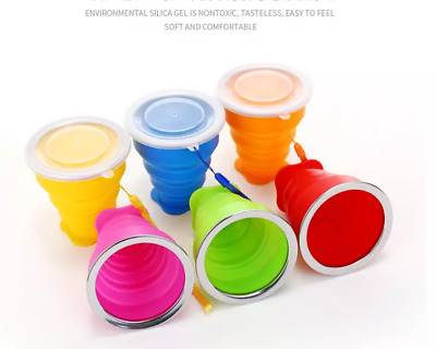 £3.29 • Buy Silicone Portable Retractable Folding Cup Telescopic Collapsible Travel Camping
