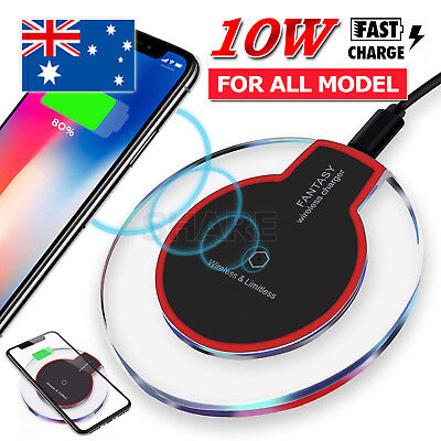AU5.45 • Buy Qi Wireless Charger Charging Pad For IPhone12 Pro XS XR Samsung S9 S10 Note 10