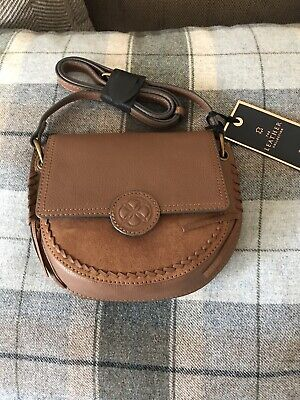 Brand New With Tag Next Women's Leather Tan Small Saddle Bag Autumn £38 • 10£