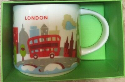 STARBUCKS London Mug Cup YAH You Are Here England UK Britain New In Box With SKU • 29.99£
