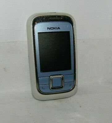 Nokia 6111 Slider Phone In White/blue Good Condition Fully Working  • 29.99£