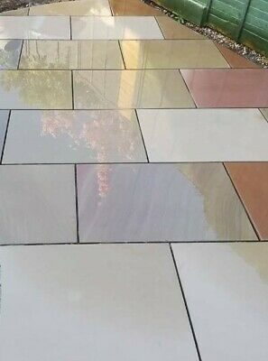 Raj Green Indian Sandstone 4 Mixed Sizes Sawn & Smooth • 582£