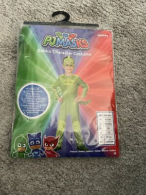 OFFICIAL UK PJ Masks Superhero Costume Kids Fancy Dress Child Outfit 5-6 Years • 10£