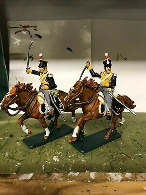 2 X BRITISH 12th LIGHT DRAGOONS WATERLOO 1815  1/32nd FIGURES • 25£