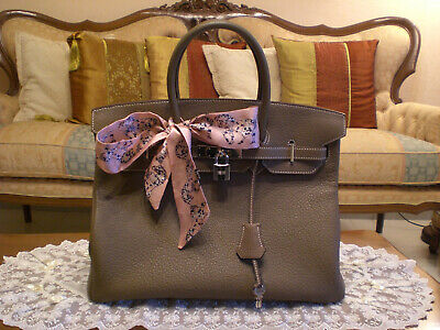 AU6000 • Buy Hermes Birkin 35 Etoupe Togo - Silver Hw With Accessories And Original Invoice