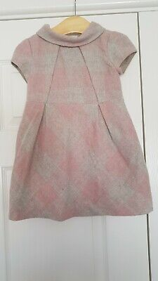 Mayoral Pink Checked Dress Girls Age 4 Winter  • 6£