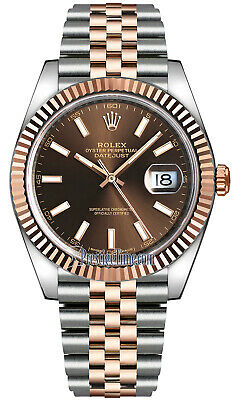 $ CDN18020.38 • Buy Rolex Datejust 41 Chocolate Dial 18k Rose Gold Steel Watch Box/Papers 126331