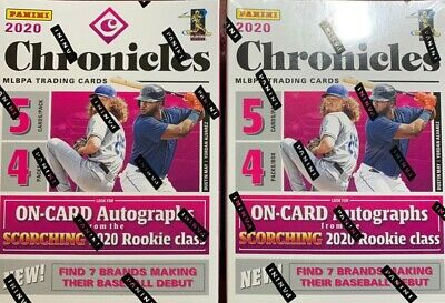 $ CDN89 • Buy 2020 Panini Chronicles Baseball LOT OF 2 Blaster Boxes. New Sealed AUTO/Rookies