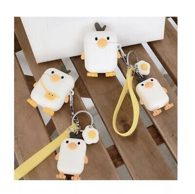AU10 • Buy Protective Silicone 3D Cute Penguin AirPods Case Cover For 1/2 Type