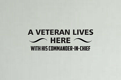 $11.66 • Buy VETERAN LIVES HERE MILITARY Custom Wall Vinyl Decal Stickers 22  WIDE X 7  TALL