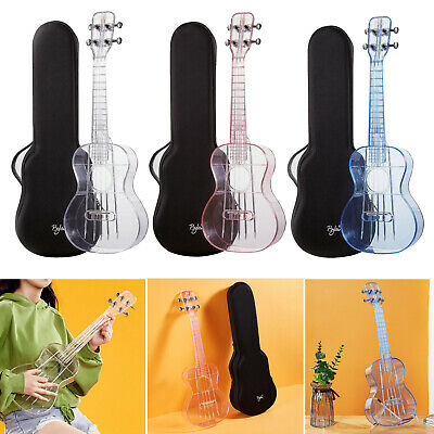 AU70.33 • Buy Clear Ukulele Air-nova 4-String W/ Gig Bag Gift For Beginner Children Friends