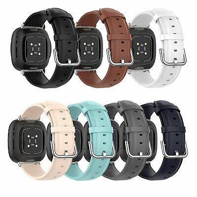 $ CDN17.62 • Buy Replacement Leather Watch Strap Wristband Bracelet Band For Fitbit Versa 3