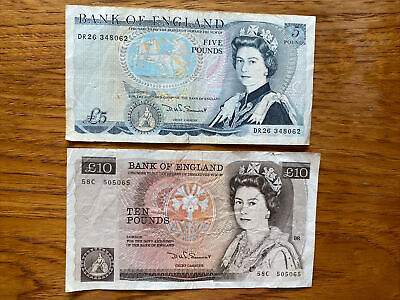 Bank Of England Old Ten And Five Pounds Notes • 14.40£