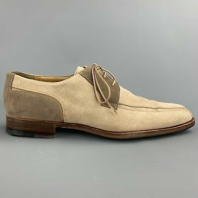 MORESCHI Size US 8 / UK 7 Taupe Two Toned Suede Lace Up Shoes • 82.77£