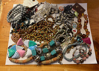 $ CDN6 • Buy Vintage Scrap Jewlery Lot , Fix Repair , Craft Ships To Canada Only 🇨🇦