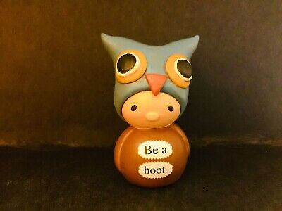 """Bea's Wees-Enesco  'Be A Hoot""""Gnome Ornament Figurine Gift • 4.99£"""