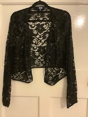 AU20 • Buy Black Asos Lace Short Jacket/ Bolero, Tagged Size AU 22, More Like 18, 20, VGC