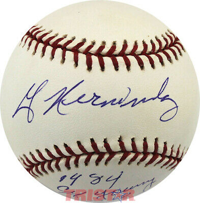 $ CDN151.95 • Buy WILLIE HERNANDEZ AUTOGRAPHED ML BASEBALL INSCRIBED 1984 CY YOUNG & MVP PSA