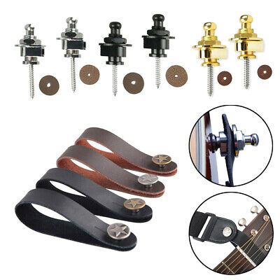 $ CDN9.54 • Buy Genuine Leather Guitar Strap Button Locks Headstock Holder Metal Security Peg