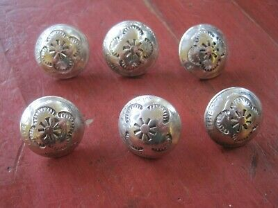 $ CDN1.31 • Buy Vintage Navajo Native Sterling Silver Concho Dime Buttons Lot Of 6 17 Grams