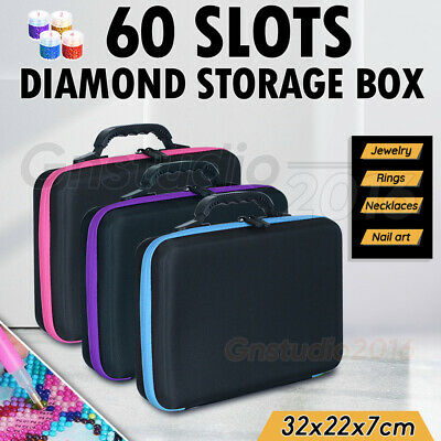 AU31.92 • Buy 60 Slots Diamond Painting Accessories Embroidery Case Geometric Storage Box Art