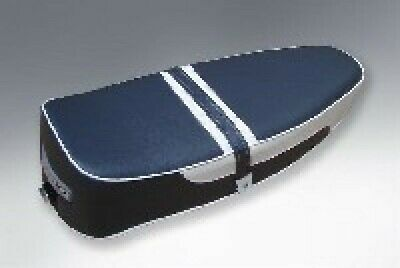 Standard Duel Seat In Dark Blue And White To Fit Vespa PX PE LML 2T T5 Classic • 90£
