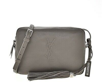 AU1246.25 • Buy Saint Laurent YSL Lou Crossbody Camera Bag Grey Leather New