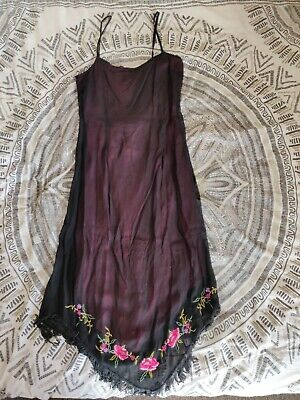 Black Embroidered Summer Dress By Impulse, Made For H&M, Size M, Good Condition • 7.39£