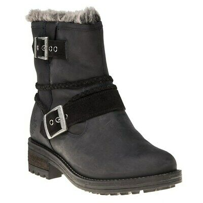 New Womens Superdry Black Hurbis Nubuck Boots Ankle Pull On • 39£
