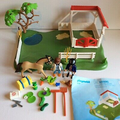 Playmobil 6147 Country Horse Paddock, Country Farm Vet Stable • 5.99£