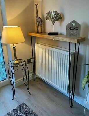 Hallway Handmade Rustic Timber Console Table Steel Hairpin Legs Industrial Style • 75£