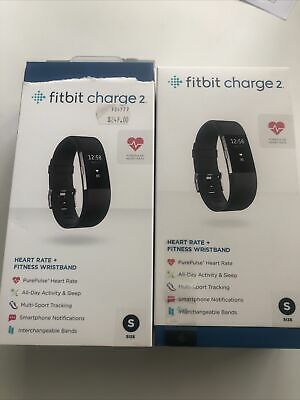 AU150 • Buy Fitbit Charge 2 Heart Rate Black Activity Tracker - Small RRP $249