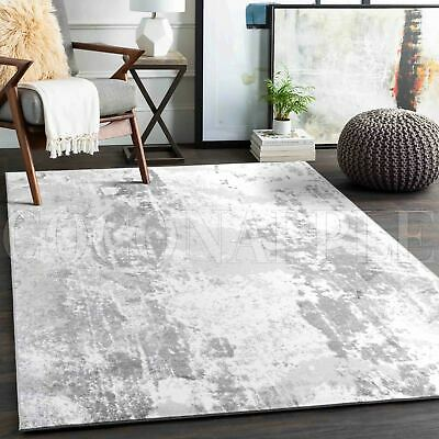 AU55.96 • Buy Wadhurst Grey White Abstract Painting Modern Rug - 5 Sizes **FREE DELIVERY**