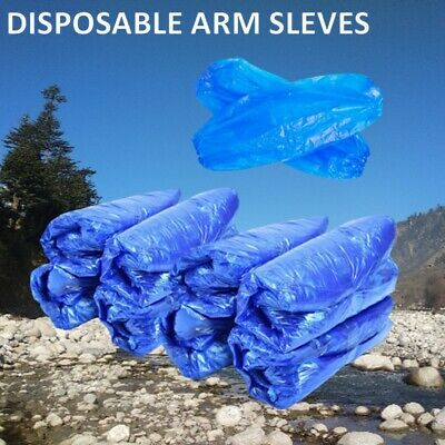 1000 BLUE Disposable Plastic Arm Sleeves Covers Oversleeves Cleaning Protective • 6.99£
