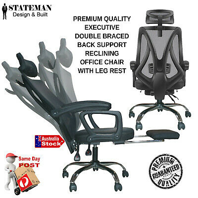 AU159 • Buy Home Office Reclining Chair Ergonomic Vented Back Gaming Office Chair Racing Exe