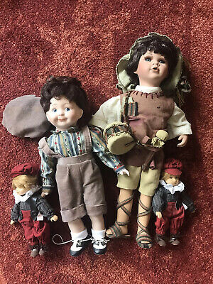$ CDN24.61 • Buy 1990 Heritage Mint Porcelain 14  Boy Doll  Jeffrey  Lot Dolls Sara