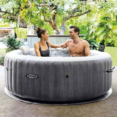 Intex Greywood Deluxe PureSpa 4-6 Person Inflatable Hot Tub Spa • 699£