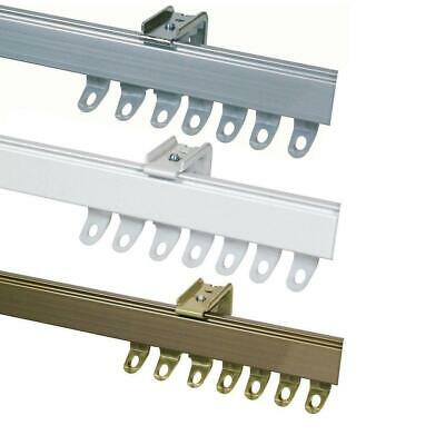 £30.90 • Buy Fineline ALUMINIUM CURTAIN TRACK Suitable For Straight Or Bay Windows + Fittings