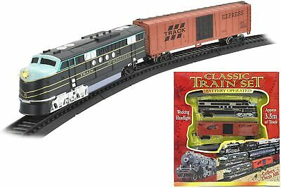£10.99 • Buy Classic Train Set Toy With Tracks Light Engine Battery Operated