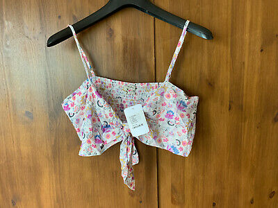 AU18.31 • Buy URBAN OUTFITTERS CROP VEST BRA TOP White Pink Summer Vest L / UK 14 - BNWT