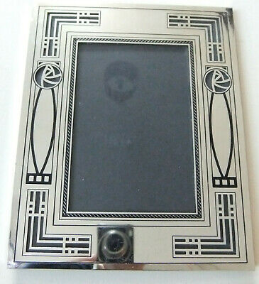 CHARLES RENNIE MacKINTOSH DESIGN RARE, SILVER PLATED PHOTO FRAME BY PAST TIMES • 7.50£