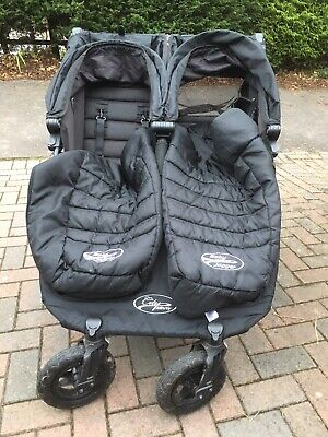 Baby Jogger City Mini GT Double Stroller - Complete With Footmuffs & Raincover • 250£