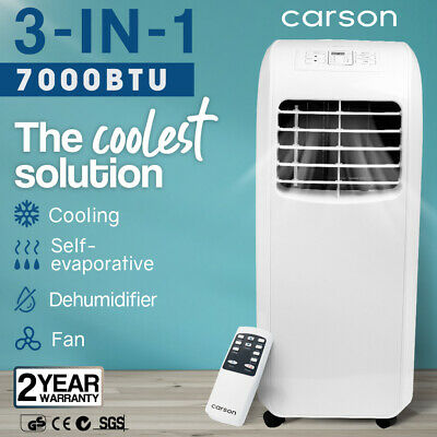 AU349 • Buy 【EXTRA15%OFF】CARSON 4-in-1 Portable Air Conditioner Dehumidifier Fan Cooler